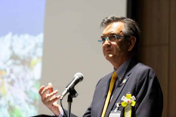 講演1「海洋ごみ対策に向けた再生プラスチック市場の改善」