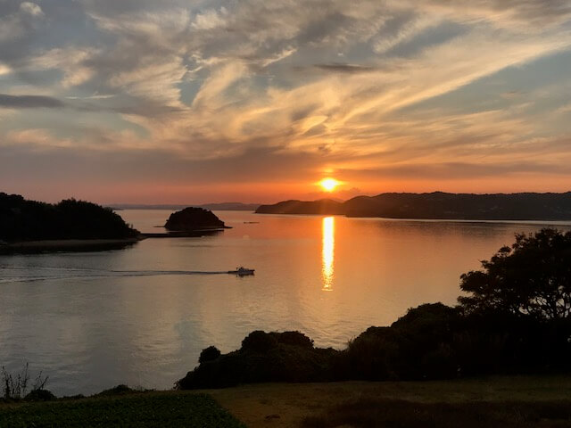 夕陽絶景スポットを探しに前島へ
