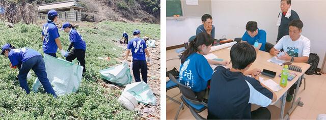 初めて実施した、長崎県対馬市海岸清掃活動