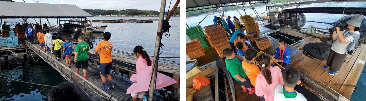 タイの養殖いけすを見学