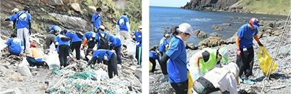 2回目の実施となる、新潟県佐渡市海岸清掃活動