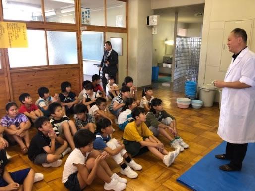 水槽設置授業(8月26日)