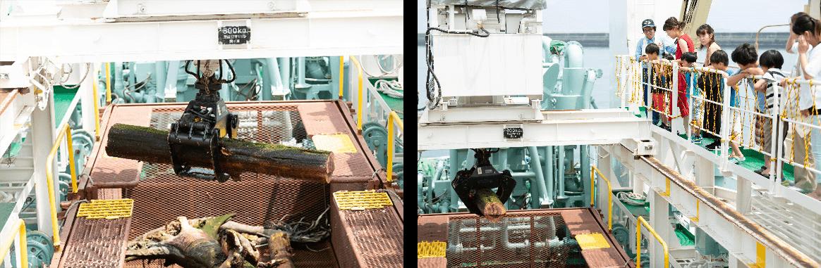 海上清掃船「いしづち」の一般公開を見学