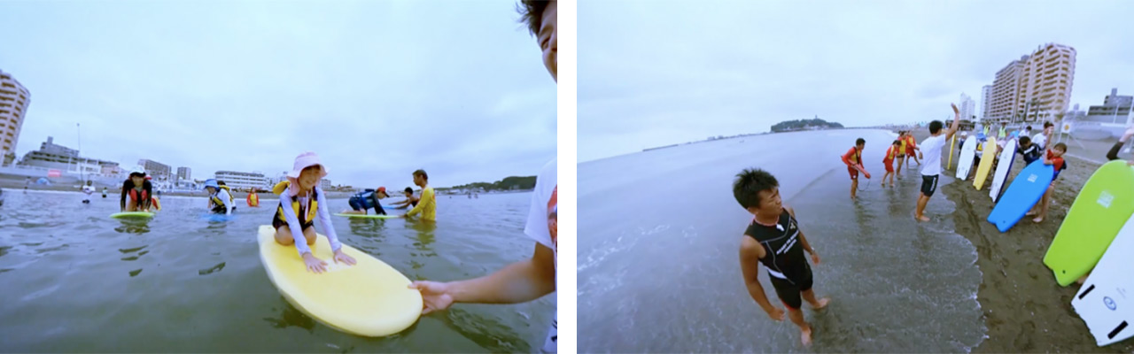 片瀬江ノ島東浜で遊びを通じて海の「そなえ」を学ぶ