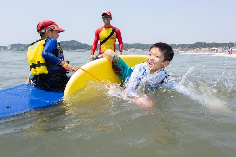 鎌倉材木座海岸で海のそなえ体験イベントを開催