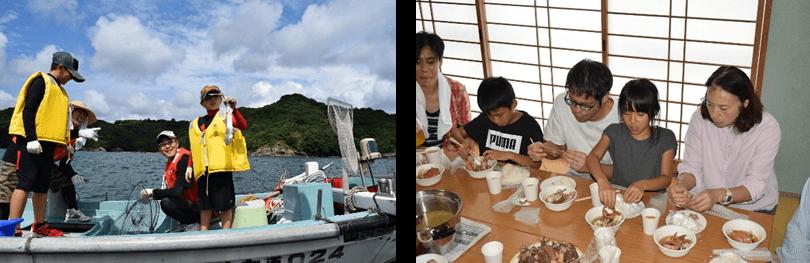 【長与町】海フェスタ カゴ漁体験・食育事業