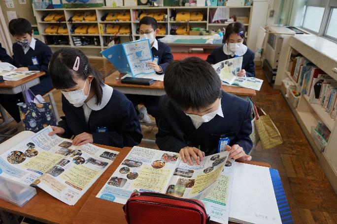 座学 at 敦賀市立沓見小学校