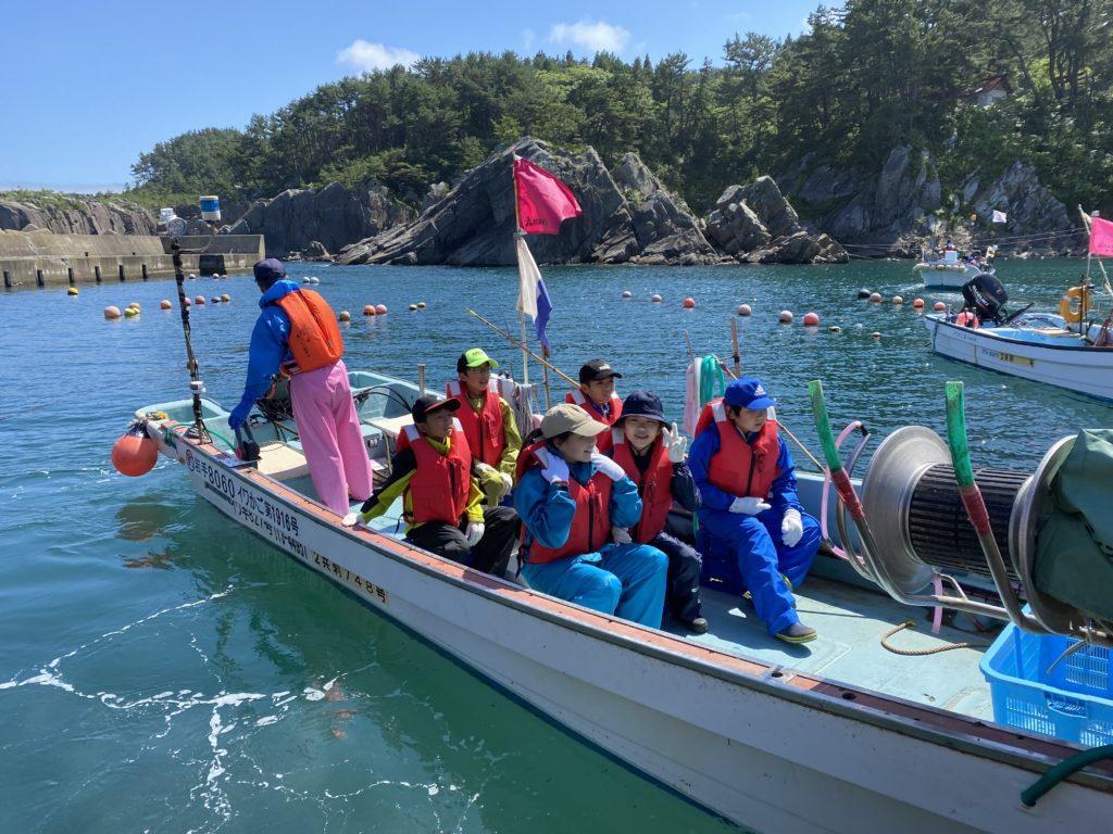 久慈市で「いわてマリンキッズ」開催~子供たちが漁を体験!!