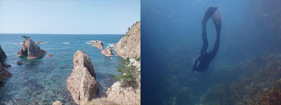 県内有数の透明度を誇る美しさ。豊かな海を守るためにも伝えていきたい